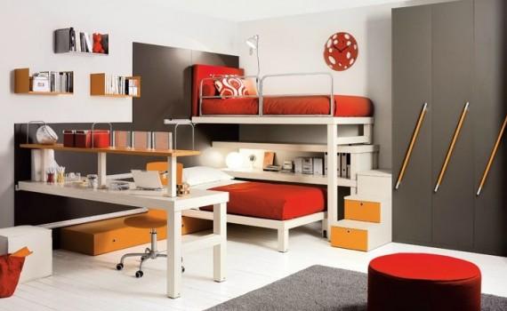 Thiết kế phòng ngủ 2 trong 1 đẹp tuyệt vời cho phòng trẻ em