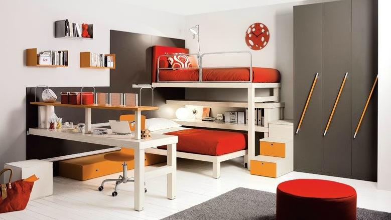 """Thiết kế nội thất """"2 trong 1"""" đẹp tuyệt vời cho phòng trẻ em"""