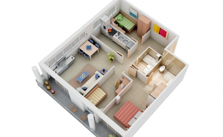Chung cư 3 phòng ngủ – Sự lựa chọn hoàn hảo cho cuộc sống hiện đại (P.1)