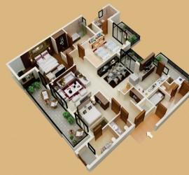 Thiết kế nội thất đẹp cho chung cư 3 phòng ngủ