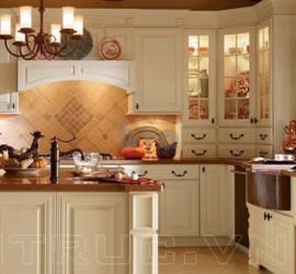 Thiết kế tủ bếp chữ G đẹp cho nhà bếp á Đông
