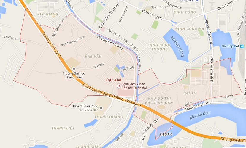 bản đồ hành chính phường đại kim hoàng mai.