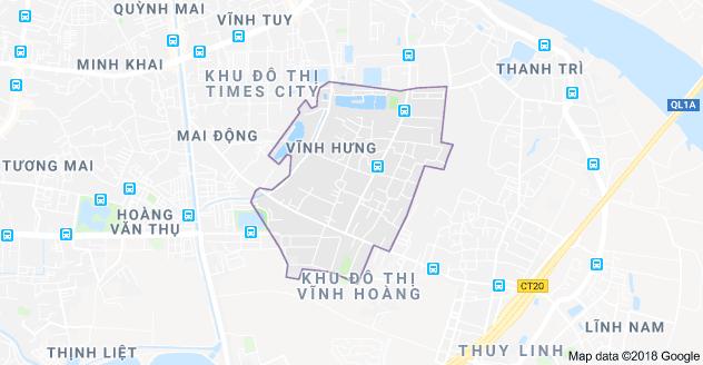 Bản đồ phường Vĩnh Hưng, Hoàng Mai, Hà Nội.