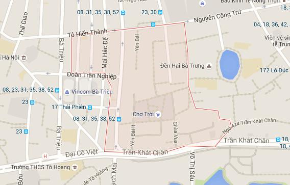 Dịch vụ xin giấy phép xây dựng phường Phố Huế Hai Bà Trưng.