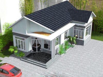 Mẫu thiết kế nhà vườn cấp 4 đẹp nông thôn